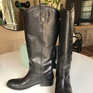 Melissa black Frye boots extended calf